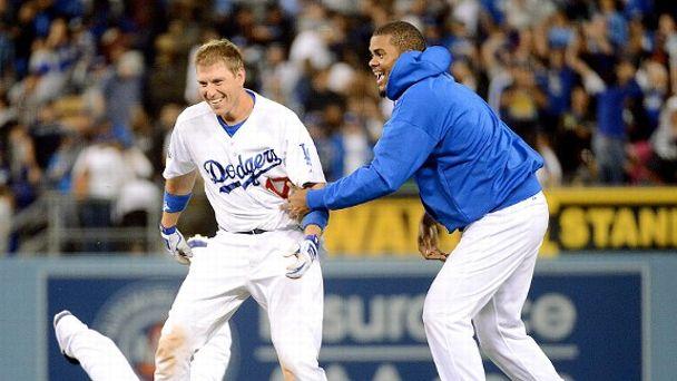 Los Angeles Dodgers celebrate