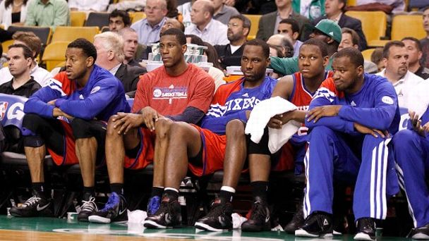 76ers Bench