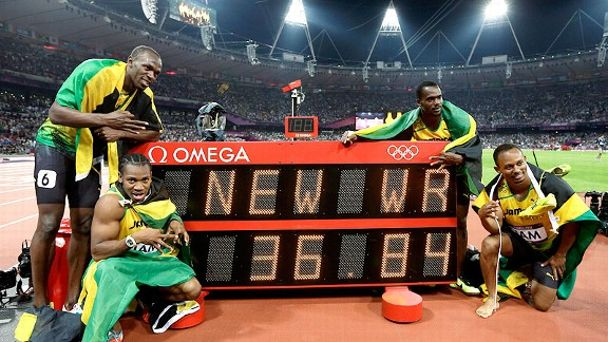 Jamaica 4x100m world record