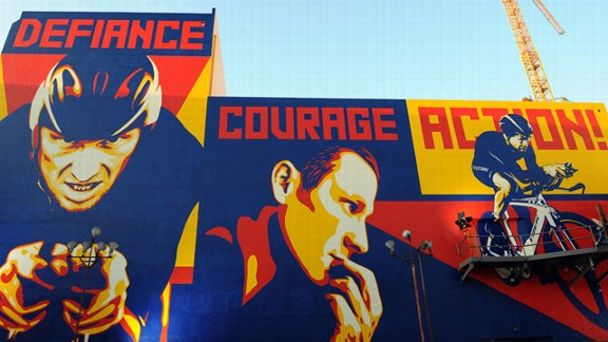 Lance Armstrong mural