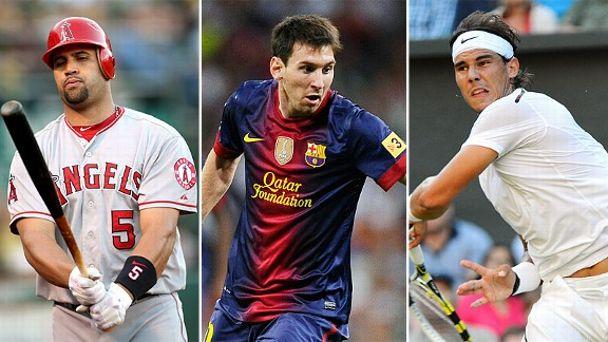Pujols, Messi, Nadal