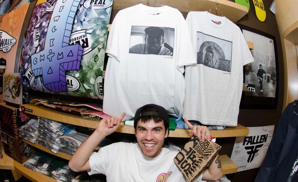 4096948c2 Sagan Lockhart also had some photo shirts screened up and ready for sale.  If you
