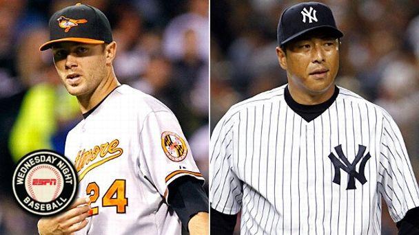 Chris Tillman and Hiroki Kuroda