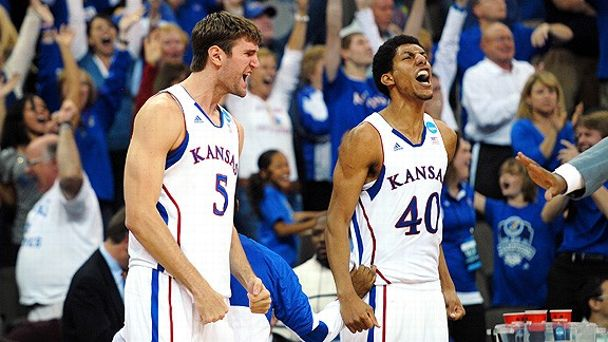 Jeff Withey and Kevin Young