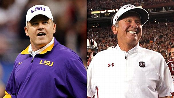 Les Miles and Steve Spurrier