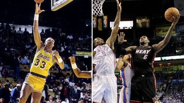 Kareem Abdul-Jabbar and LeBron James