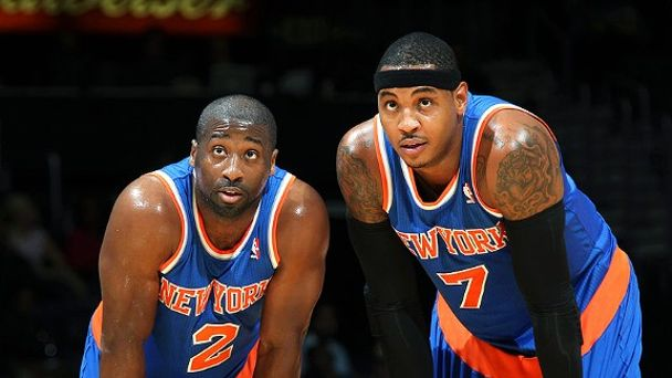 Raymond Felton and Carmelo Anthony