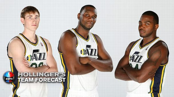 Gordon Hayward, Al Jefferson and Paul Millsap