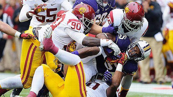 Trojans defensive players