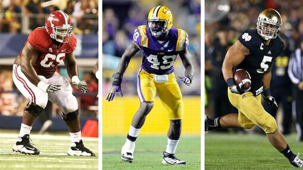 Chance Warmack, Barkevious Mingo and Manti Te'o