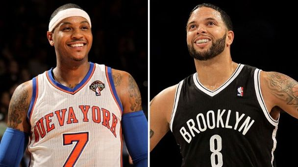 Carmelo Anthony and Deron Williams