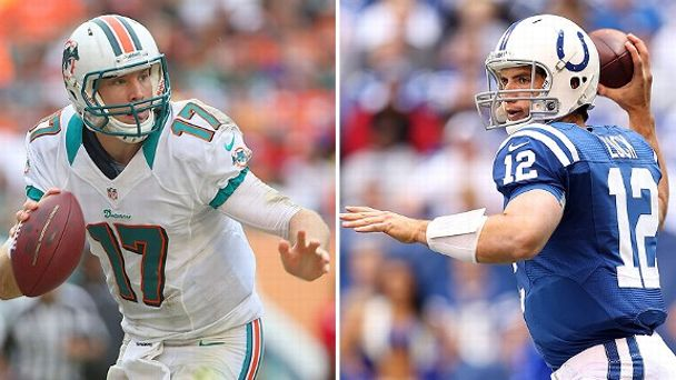 Ryan Tannehill and Andrew Luck
