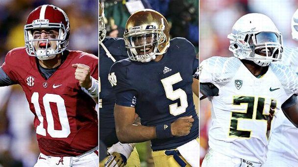 Alabama & Notre Dame & Oregon