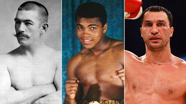 John L. Sullivan, Muhammad Ali & Wladimir Klitschko