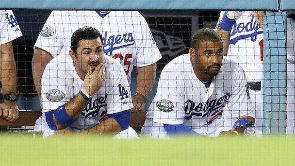 Adrian Gonzalez and Matt Kemp