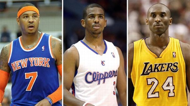 Carmelo Anthony, Chris Paul, Kobe Bryant