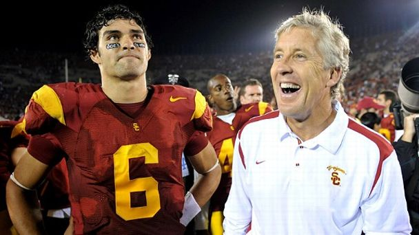 Mark Sanchez and Pete Carroll
