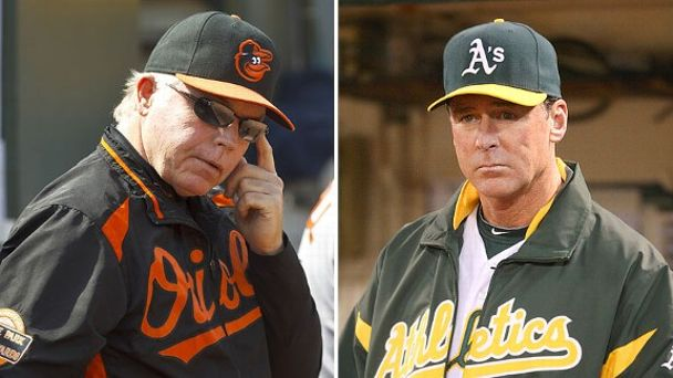 Buck Showalter and Bob Melvin