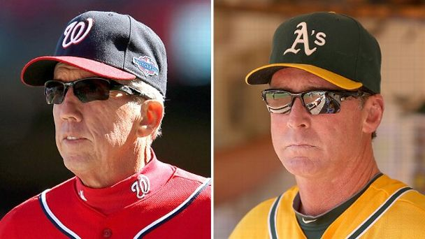 Davey Johnson and Bob Melvin
