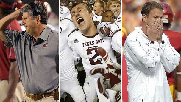 Mike Leach, Johnny Manziel and Lane Kiffin