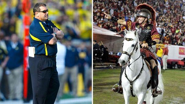 Brady Hoke and USC Masot