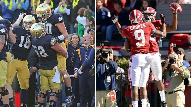 Notre Dame and Alabama