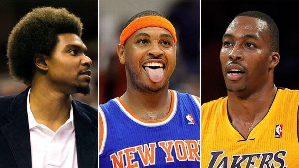 Andrew Bynum, Carmelo Anthony, Dwight Howard