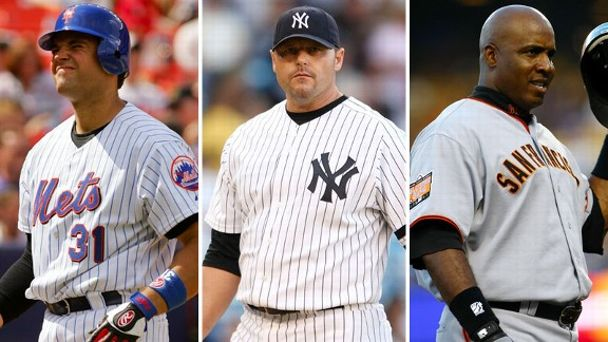 Mike Piazza, Roger Clemens, Barry Bonds