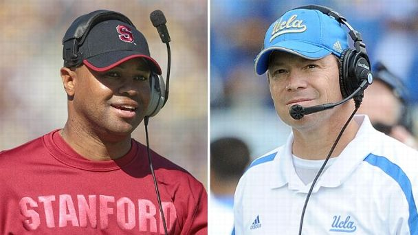 David Shaw and Jim Mora