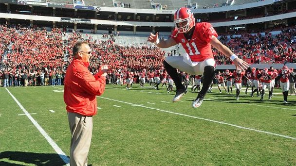 Mark Richt and Aaron Murray