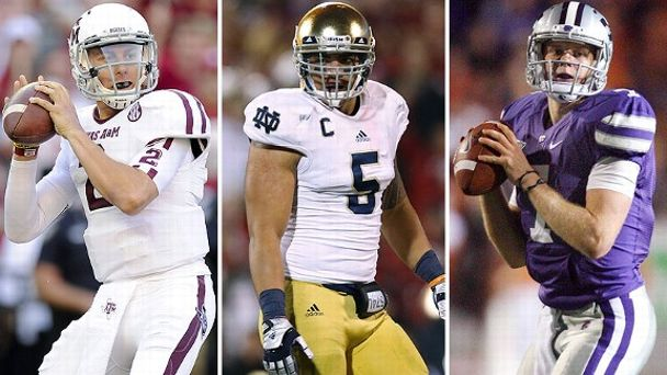 Johnny Manziel, Manti Te'o, State's Collin Klein