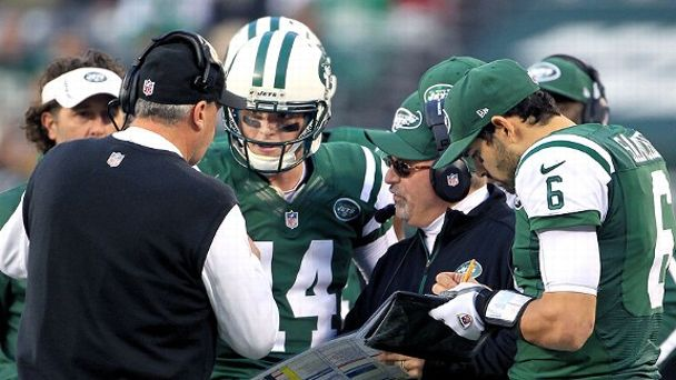 Rex Ryan, Greg McElroy, Tony Sparano, Mark Sanchez
