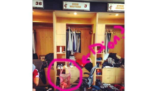 Two Questions About This Photo of the Cleveland Cavs Locker Roo…
