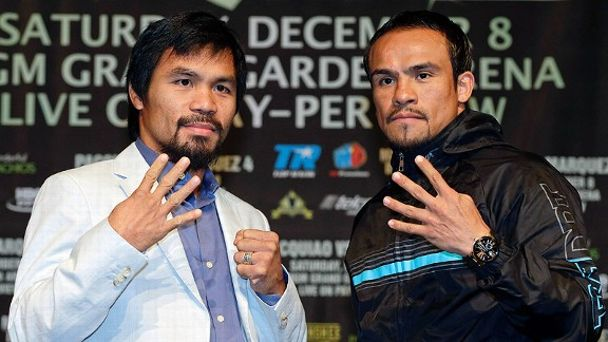 Manny Pacquiao, left, and Juan Manuel Marquez