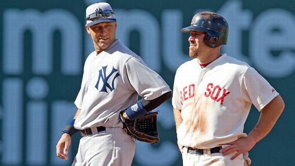 Derek Jeter and Kevin Youkilis