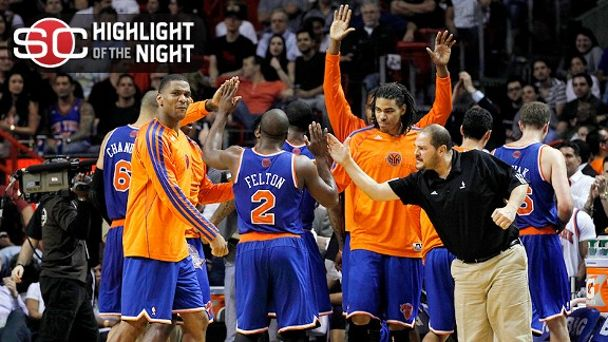 New York Knicks celebrate