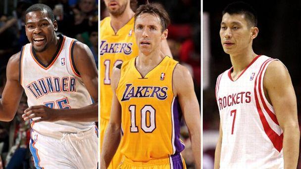 Kevin Durant, Steve Nash, Jeremy Lin