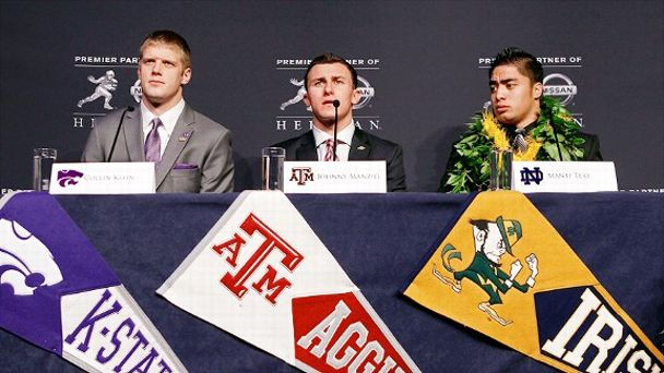 Collin Klein, Johnny Manziel and Manti Te'o