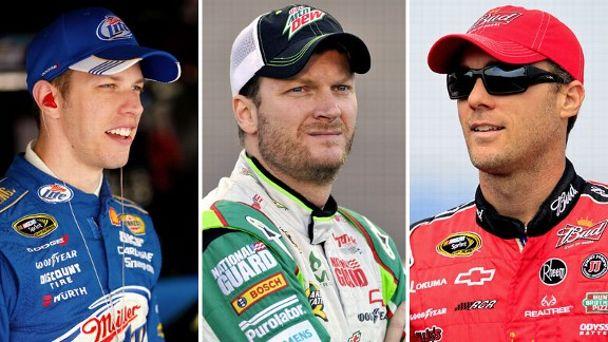 Brad Keselowski, Dale Earnhardt Jr., Kevin Harvick