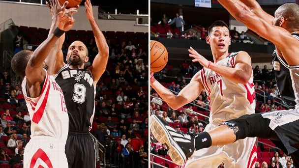 Tony Parker and Jeremy Lin