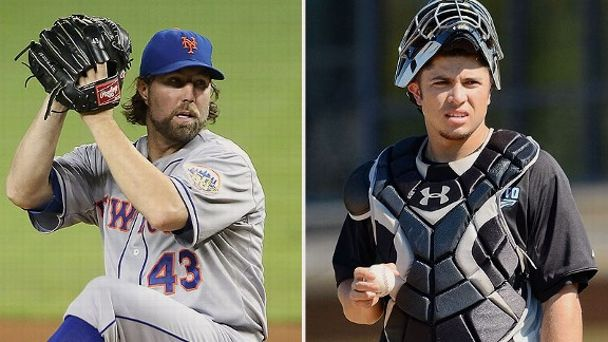 R.A. Dickey and Travis d'Arnaud
