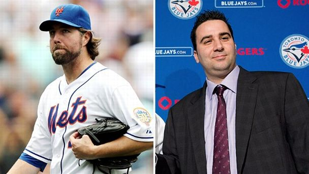 R.A. Dickey and Alex Anthopoulos