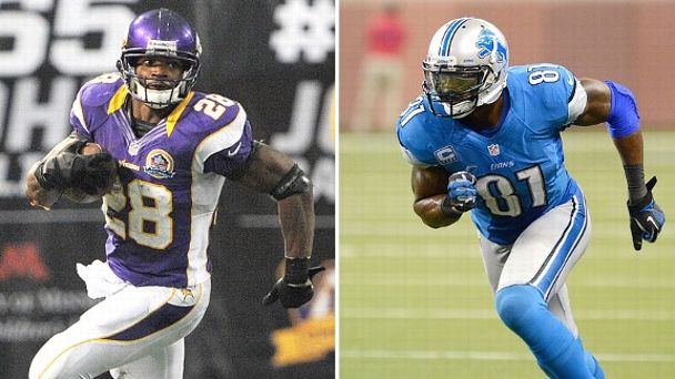 Adrian Peterson and Calvin Johnson
