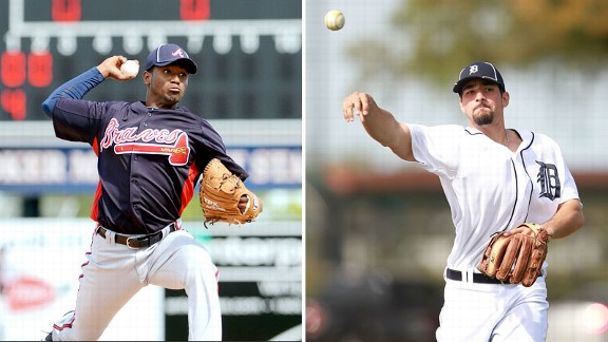 Julio Teheran and Nick Castellanos