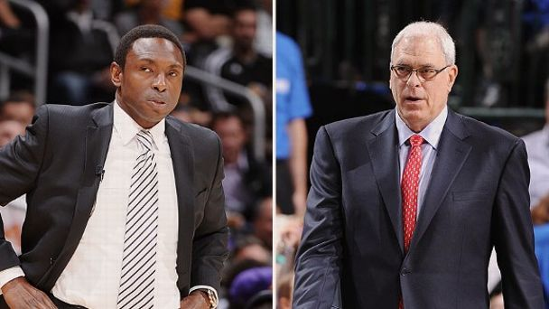 Avery Johnson and Phil Jackson