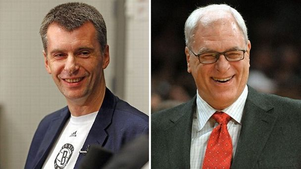 Mikhail Prokhorov and Phil Jackson