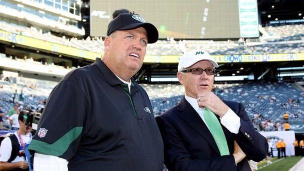 Rex Ryan and Woody Johnson