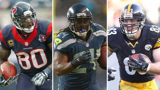 Andre Johnson, Marshawn Lynch, Heath Miller