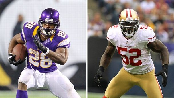 Adrian Peterson and Patrick Willis