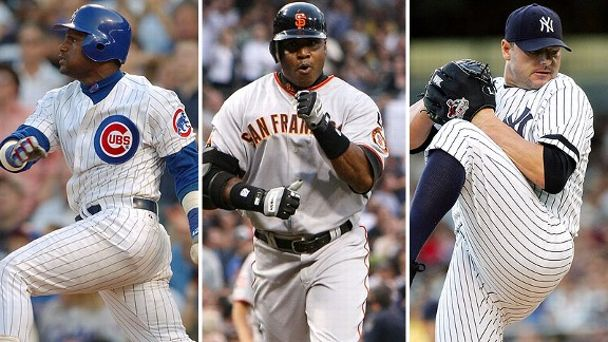 Sammy Sosa, Barry Bonds, Roger Clemens